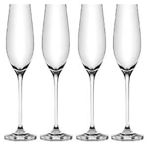 Vinissimo pack of 4 glass champagne flutes £2 @ Iceland