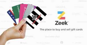 FREE MONEY! £50 Argos gift card for £45.50 (or £39.20) using Zeek, and others!