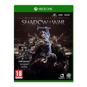 Middle Earth Shadow of War / Resident Evil 7 (Xbox One), £5 click and collect at Smyths