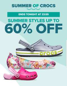 Up to 50% off plus extra 20 % off in Crocs summer sale with free P&P or 30% off full price with code