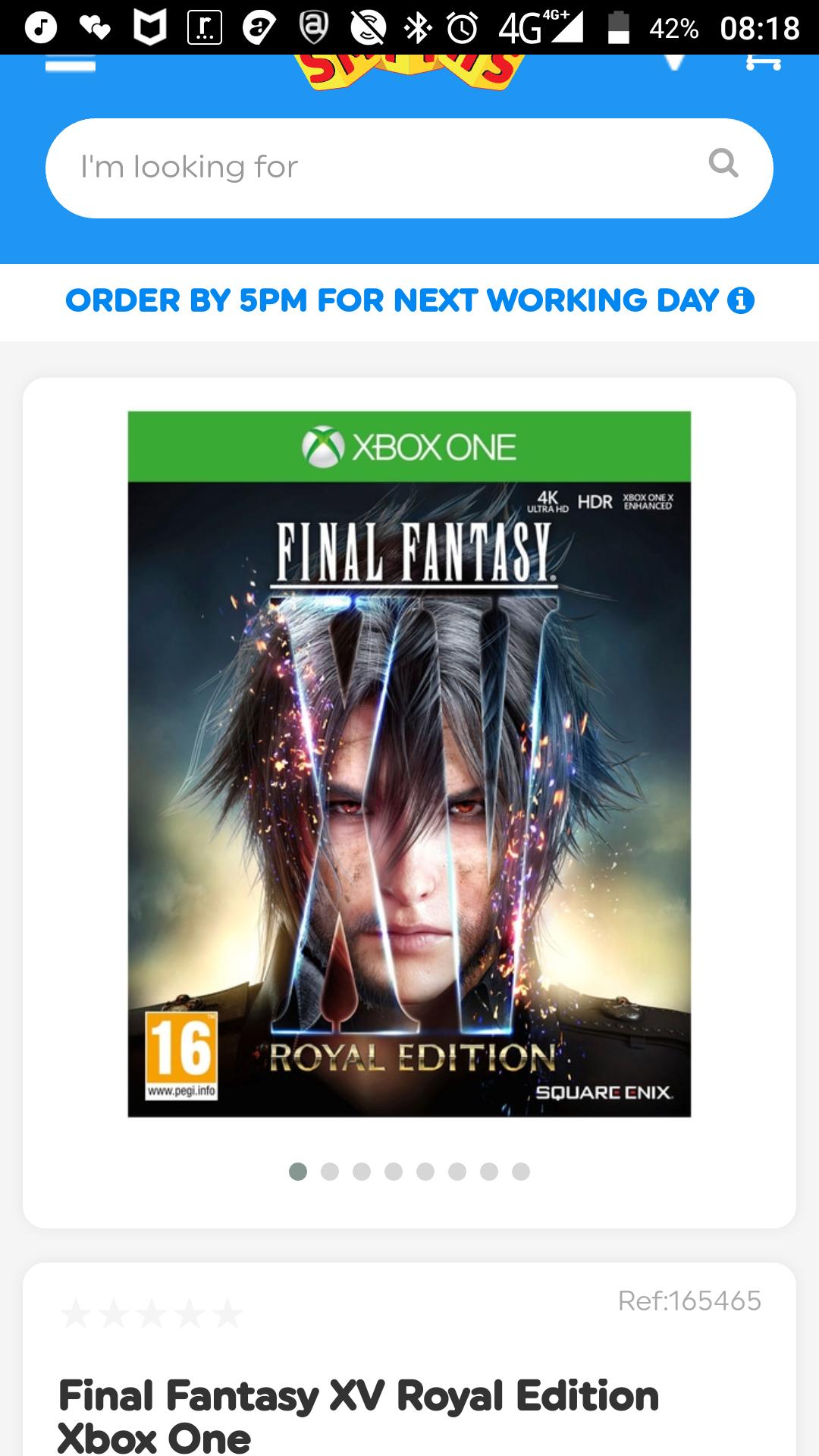 Final fantasy 15 royal edition Xbox one £14.99 Smyths Toys