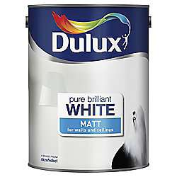 Dulux Matt Emulsion Paint, Pure Brilliant White, 5L £8 at Tesco Direct