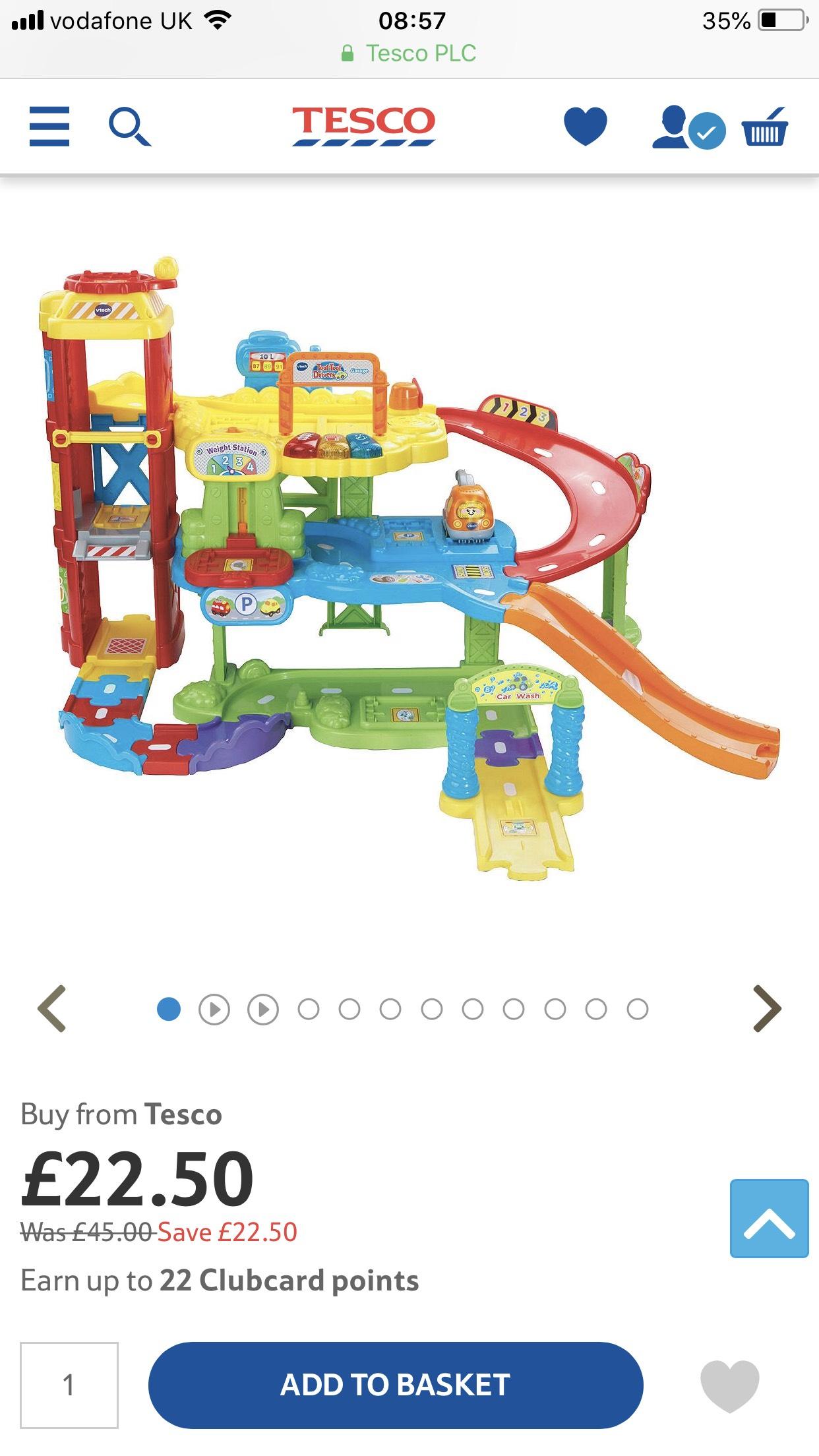 Vtech toot toot drivers garage and truck £22.50 @ Tesco Direct
