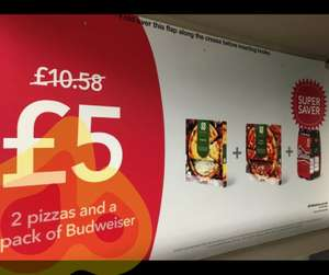 2 pizzas and a 4 pack of budweiser £5 Co-op - Now live (Plus other Takeaway & Meal deals for World Cup)