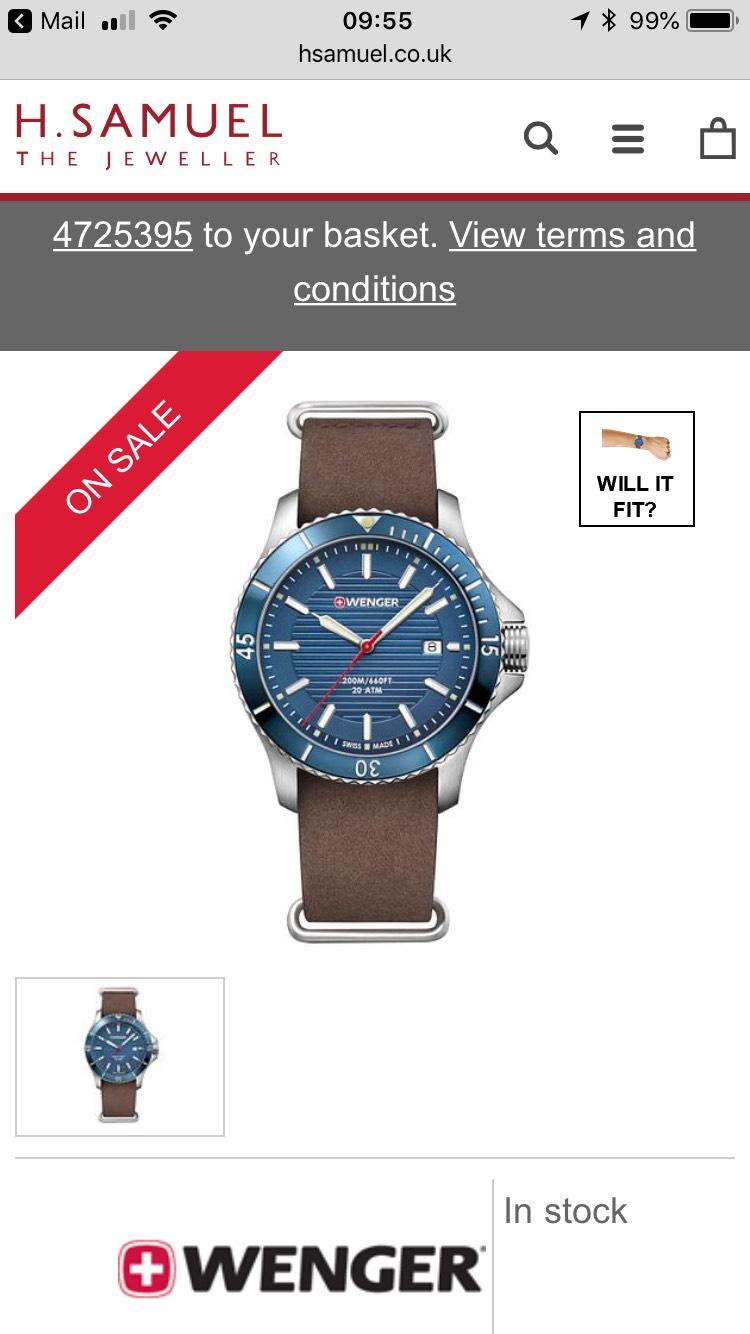 Wenger Seaforce 200m watch at H Samuel - £80