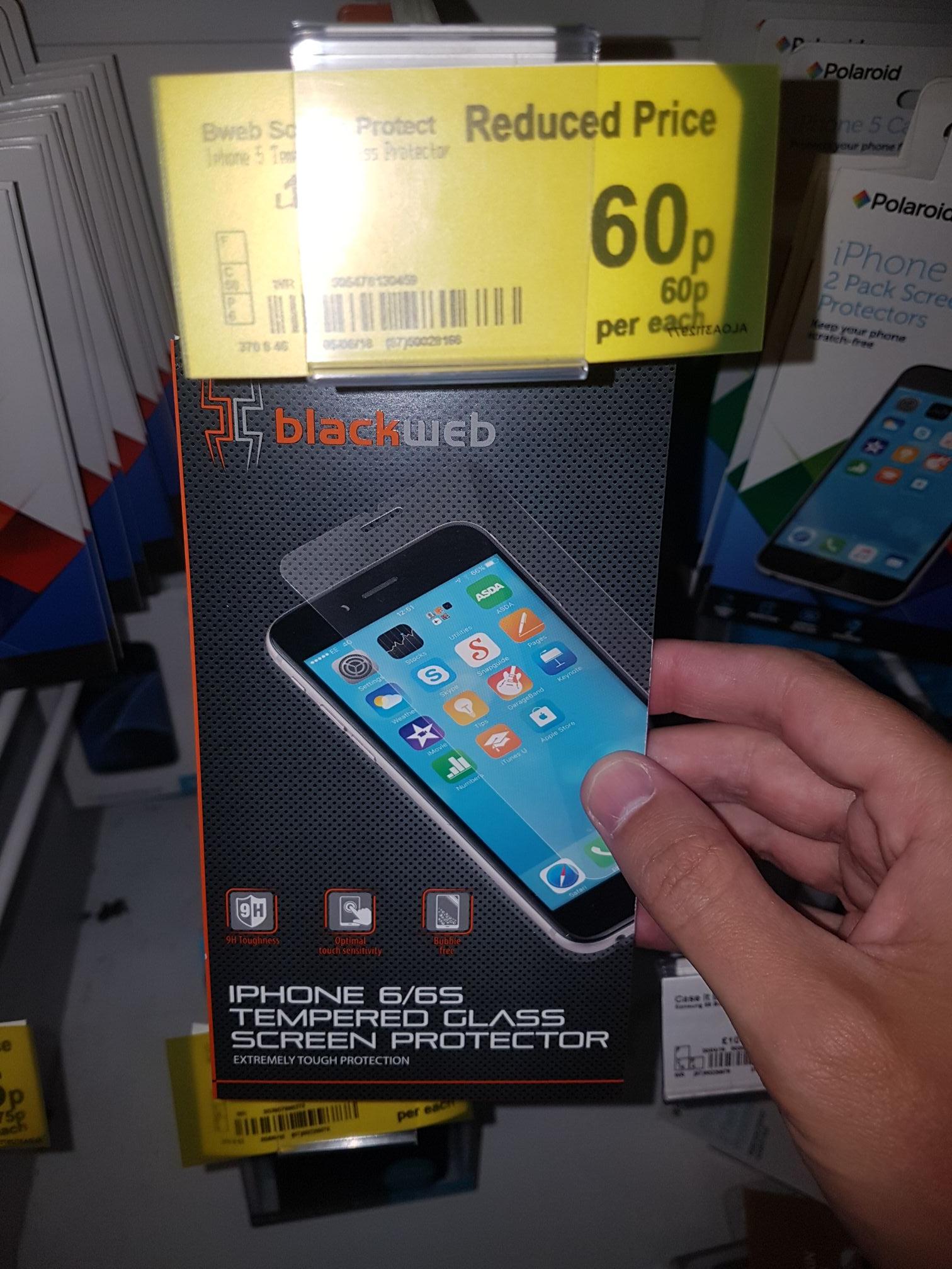 Blackweb screen protector iPhone 6s 60p @ asda instore