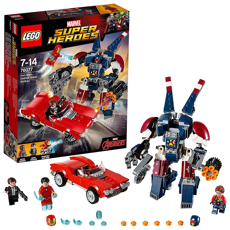 LEGO 76077 Marvel Super Heroes Iron Man, Detroit Steel Strikes Superhero £17.94 prime / £22.43 non prime @ Amazon