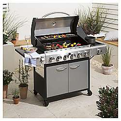 Tesco Premium 6 Burner Gas BBQ with Side Burner & Cover £150 + £7.95 delivery