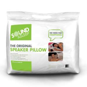Sound Alseep original speaker pillow for audio books / radio / phones / tablets now £10.99 delivered with code @ Sleepy People
