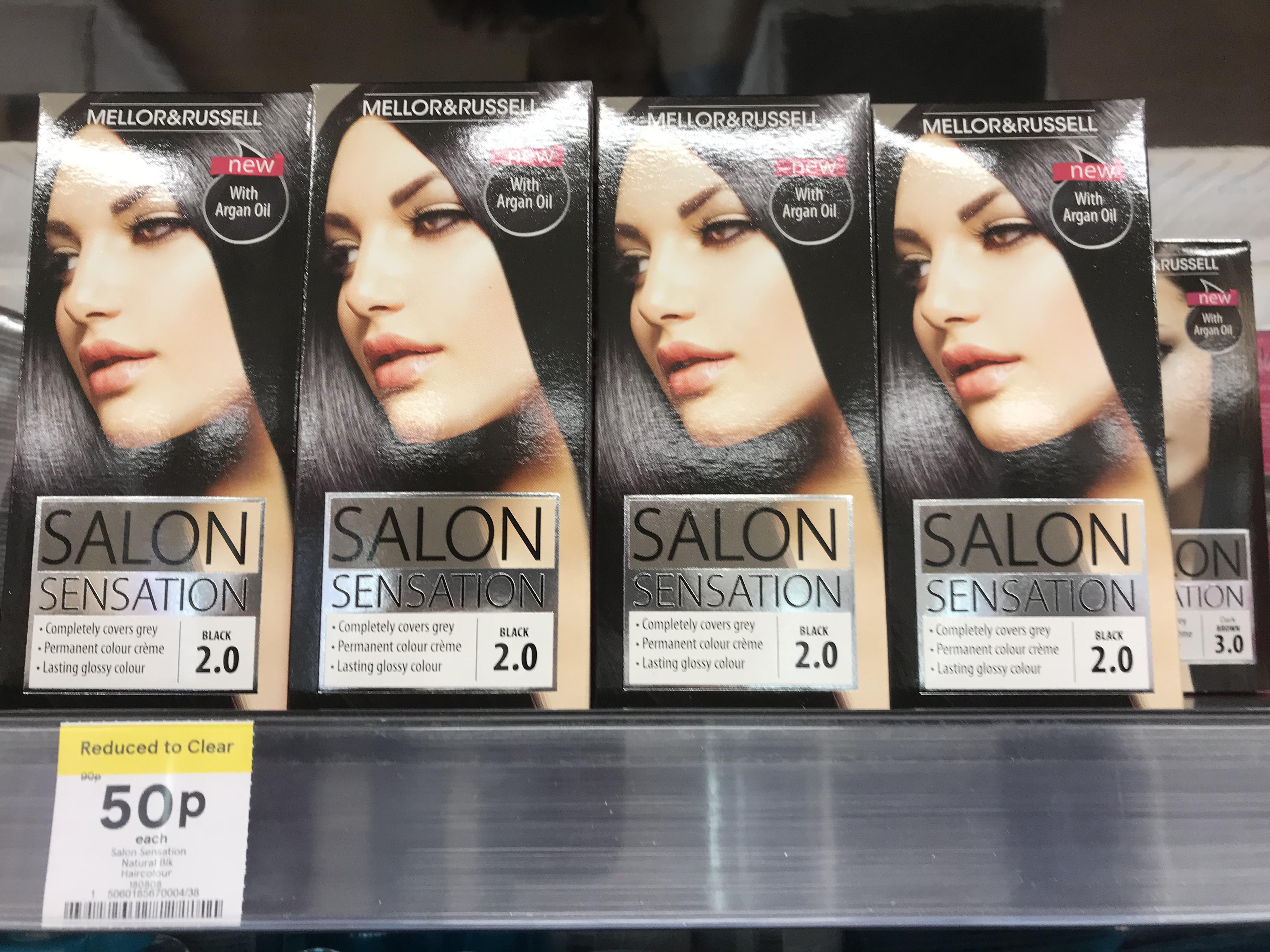 Mellor & Russell Salon Sensation hair dye 50p at Tesco Extra Stockton