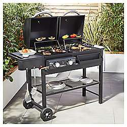 Tesco Dual Fuel Gas and Charcoal 2 burner BBQ £132.95 delivered @ Tesco