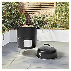 Tesco Dual Smoker and Charcoal Bullet BBQ £25