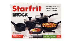 Starfrit's The Rock 5-Piece Cookware Set was £80 now £40 C+C @ Asda George