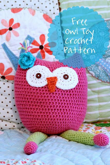 Owl Toy Free Crochet Pattern @ All Free Cochet