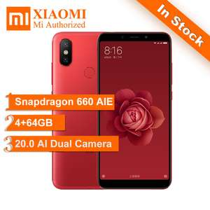 (Global ROM) Original Xiaomi Gold Mi 6X 4GB RAM 64GB £187.46 @ Mi authorised store / Aliexpress