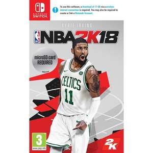 (Nintendo Switch) NBA 2K18 £15 @ Smyths (In-Store only)