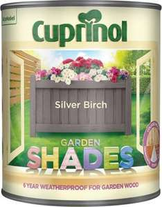 Cuprinol Garden Shades Wood Stain 2.5L £15  @ B&Q
