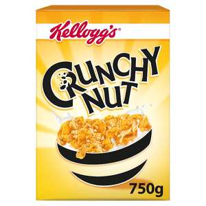 Kelloggs Crunchy Nut Corn Flakes Cereal 750G  £1.75 at Tesco more Cereal in post