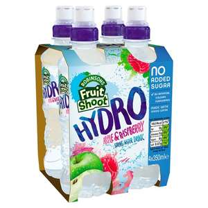 Robinsons Fruit Hydro Apple And Raspberry 4X350ml £1.19 Tesco from 13th