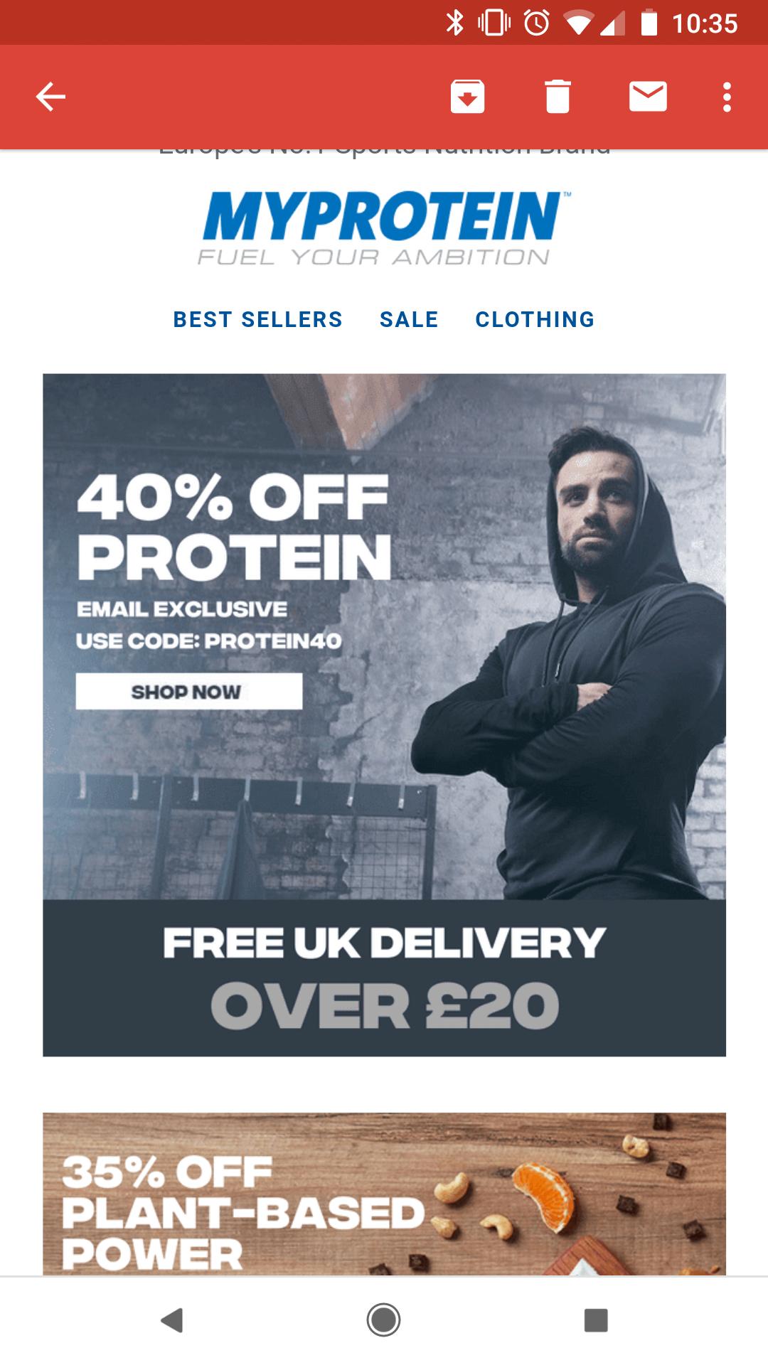 40% Off Protein @ MYPROTEIN