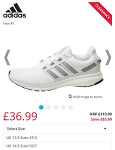 Mens large size 13.5 / 14.5 adidas Running trainers now £36.99 @ M&M Direct p&p £4.49