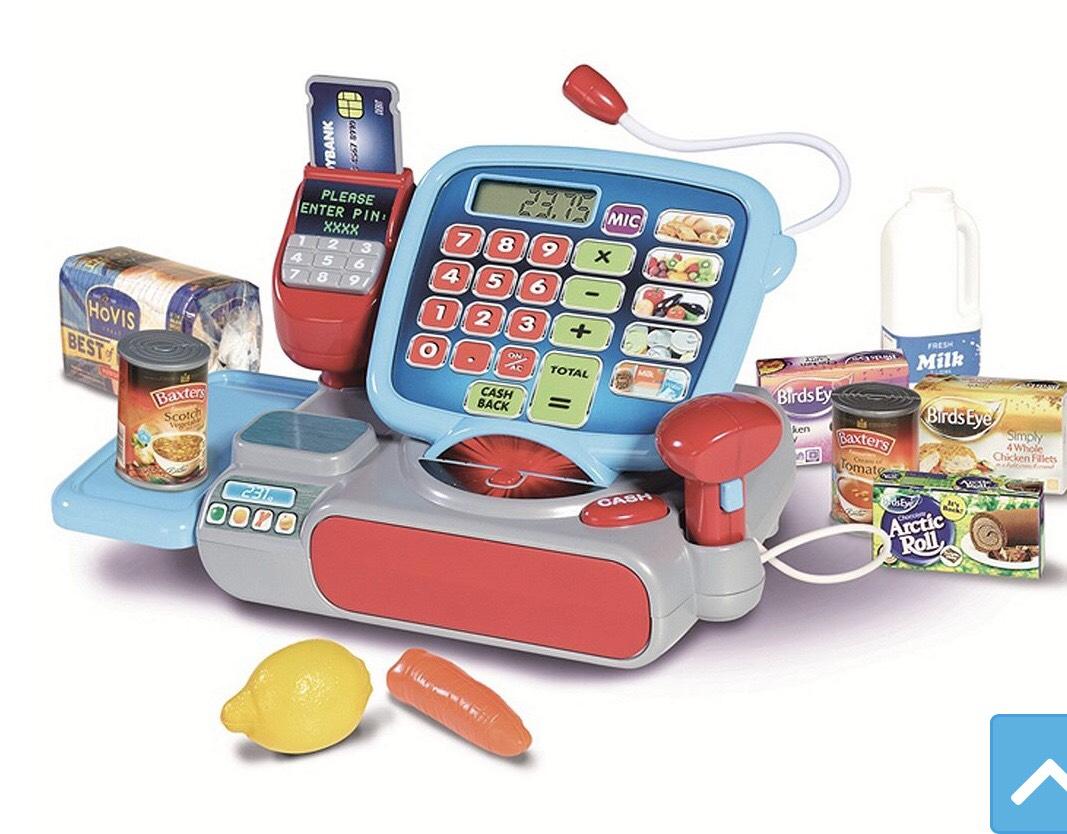 Casdon supermarket checkout till toy £7.40 at Tesco direct