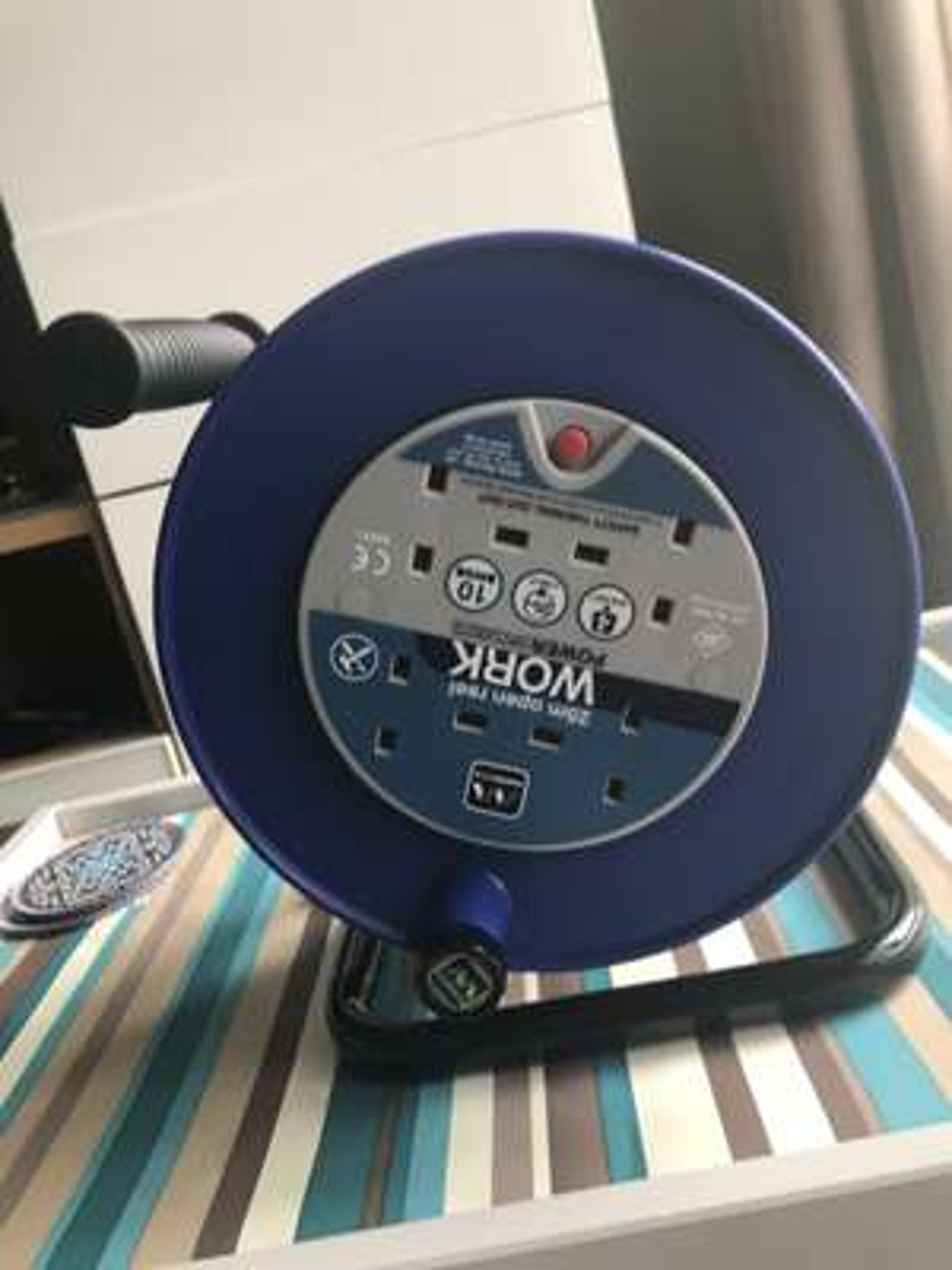 Masterplug Cable Reel 10amp 4 Gang 25m £15 - In Store Wilko - Preston