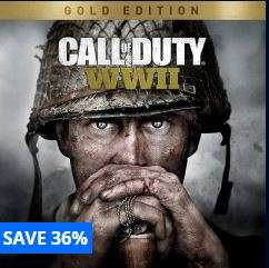 Call of Duty WW2 Gold Edition - £34.99 @ PSN