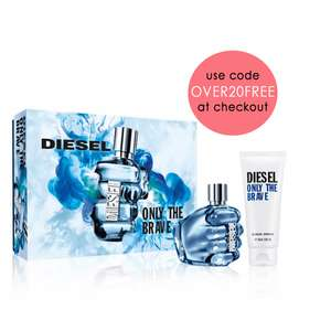 Diesel Only The Brave Eau De Toilette 50ml & Shower Gel 100ml Gift Set £25 delivered with code @ Beauty base