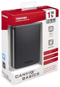 Toshiba Canvio 1TB basic portable external hard drive now £34.99 delivered @ eBay sold by Argos