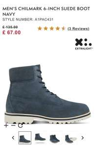 MEN'S CHILMARK 6-INCH SUEDE BOOT NAVY £60.30  with code free delivery at Timberland - Other colours also