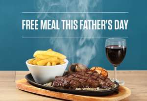 Free Evening Meal for Dads after 6pm on  Fathers Day @ Sizzling Pubs