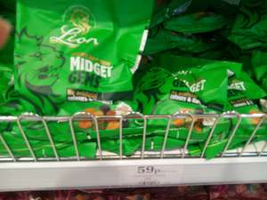 Lion Midget Gems, 190g bag, just 59p. Home Bargains.
