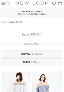 New look Up to 30% off