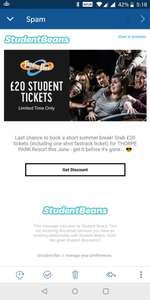 Thorpe Park Ticket for £20 via Student Beans