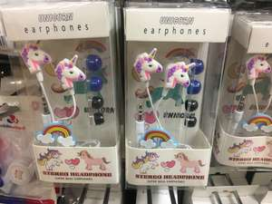 Unicorn earphones £1 at poundland