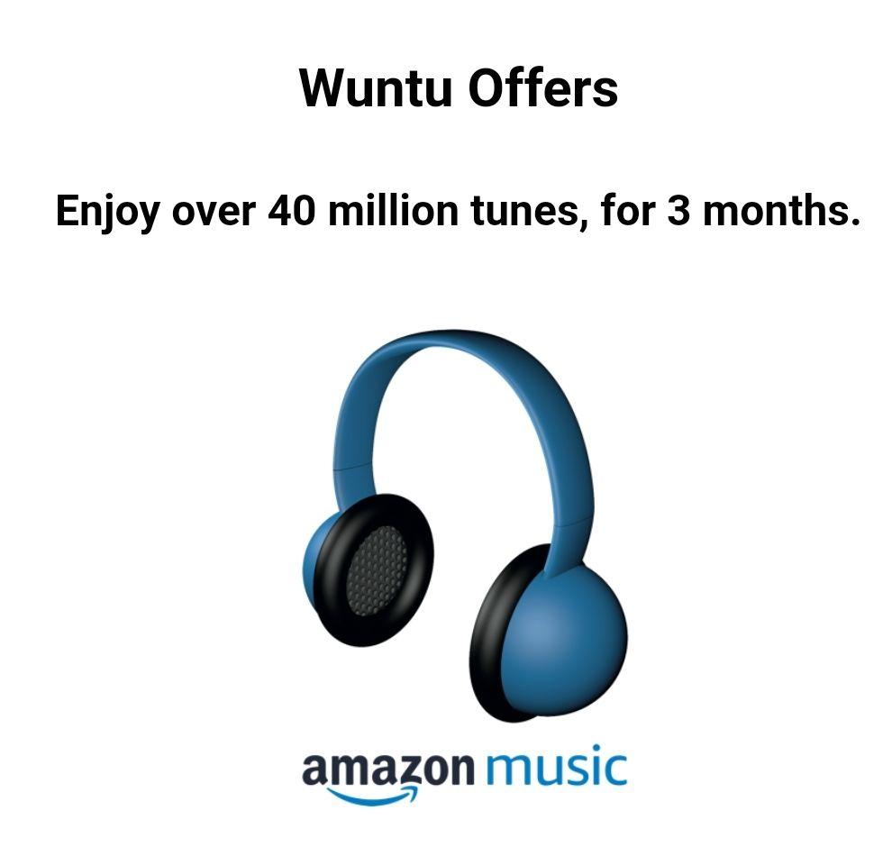 3 Months FREE Amazon Music for new customers @ Wuntu