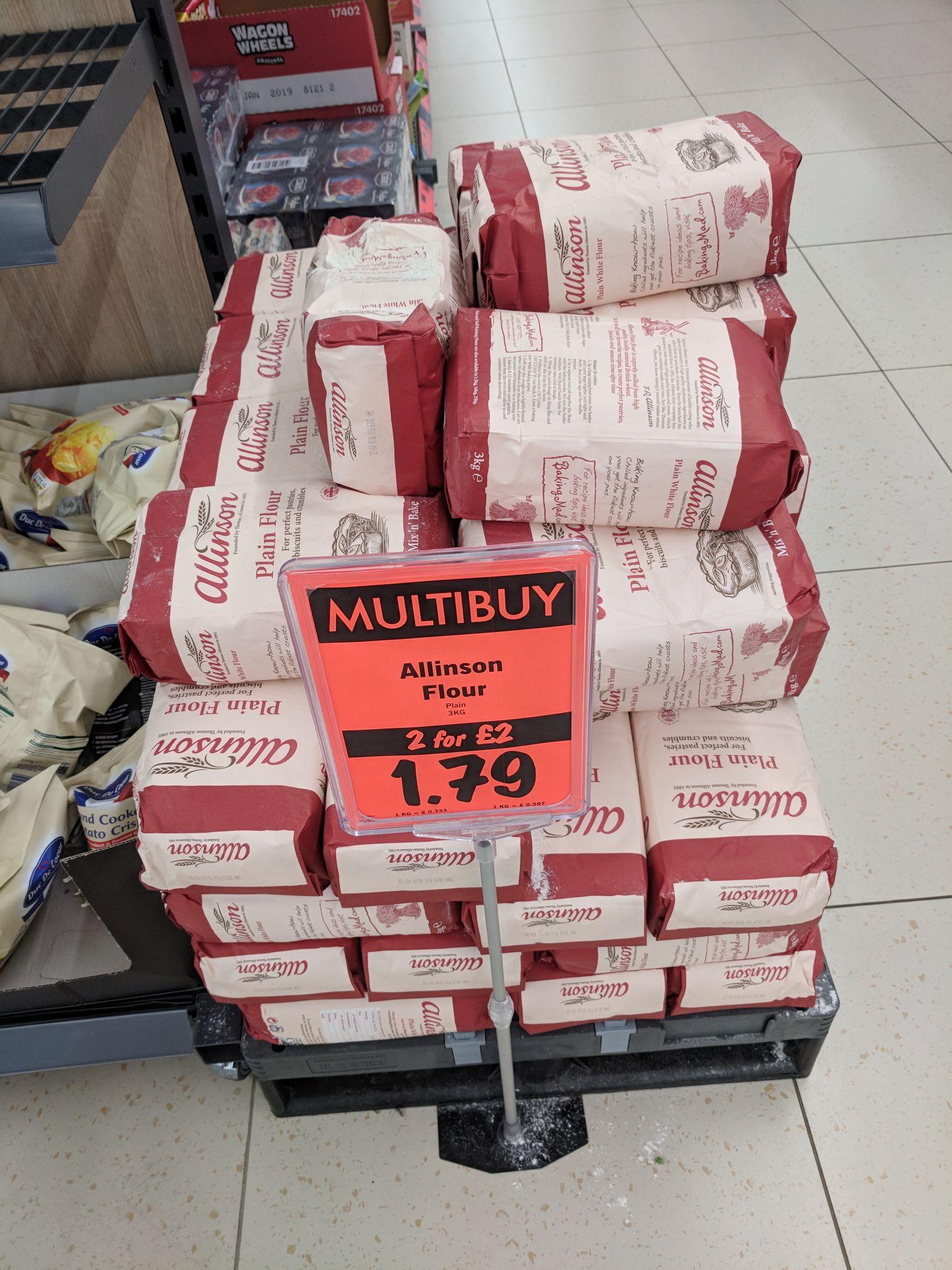6kg Allinson plain flour £2 at Lidl