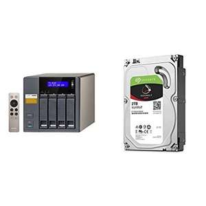 QNAP 8TB TS-453A-4G with 4 x Seagate ST2000VN004 Ironwolf HDD Bundle - £409.97 @ Amazon