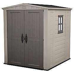 Keter Apex Plastic Garden Shed, 6x6 ft half price back in stock £220 @ Tesco