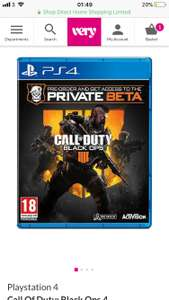 Playstation 4 Call of Duty: Black Ops 4 £39.99 at Very with £10 off