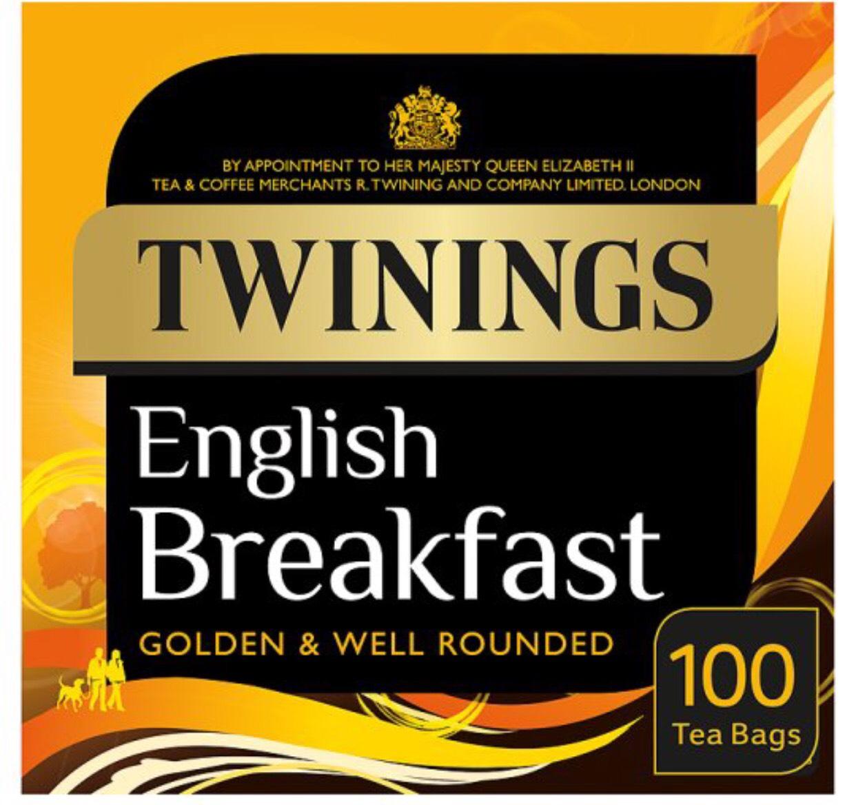 Twinings English breakfast 100 tea bags £2.50 @ Tesco