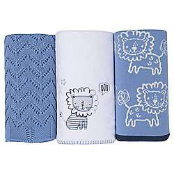 Silver Cloud Blue Blanket Set Lion £12 on Tesco Direct  click and collect