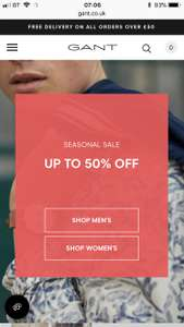 GANT seasonal sale upto 50%