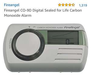 Fireangel CO-9D Digital Sealed for Life Carbon Monoxide Alarm £17.98 £ (Prime) / £22.47 (non Prime) at Amazon