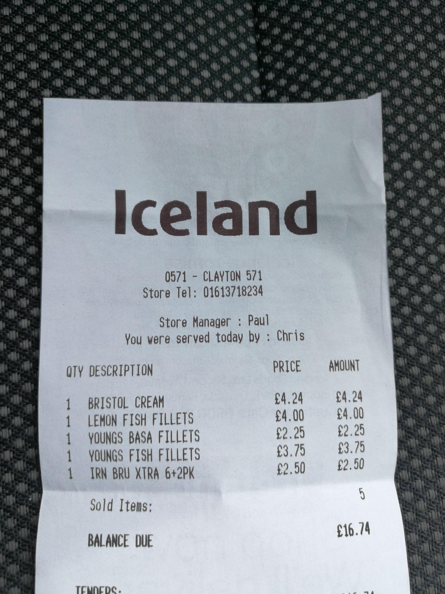 Harvey's Bristol Cream, 75cl bottle, Iceland - £4.24 instore