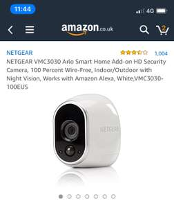 Netgear Arlo add-on HD Security wireless camera £69.99 Dispatched from and sold by Amazon - Lightning deal