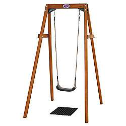 Plum wooden single swing set 50% off - £50 at Tesco