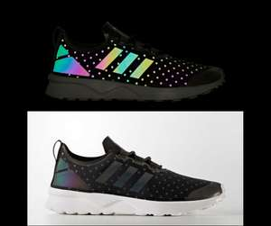 Womens Adidas ZX Flux ADV Verve Shoes iridescent Trainers now £39.98 delivered + FREE Returns @  adidas