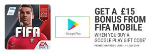 £15 FIFA Mobile bonus when purchasing Google Gift Code £10 or more @ paypal-gifts.com